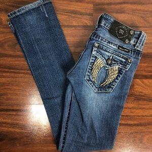 Miss Me Low Rise Denim blue jeans size 25